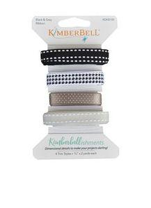 Kimberbell KDKB100 Kimberbellishments Black & Grey Ribbon Set