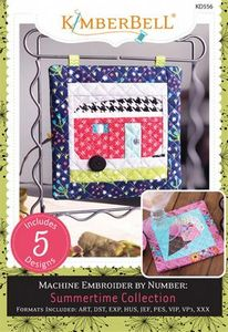 Kimberbell KD556 Machine Embroider by Number: Summertime Collection CD