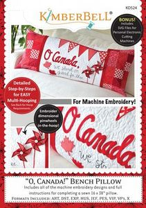 Kimberbell KD524 O, Canada! Bench Pillow Machine Embroidery CD
