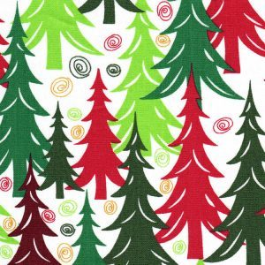 Fabric Finders 1993 Christmas Tree Fabric by the yard