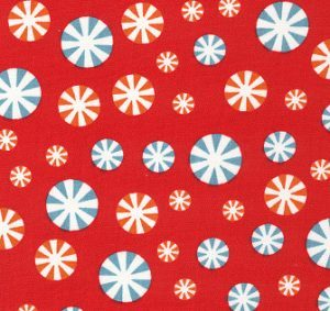 Fabric Finders 1950 Peppermint Candy Fabric – Red by the yard