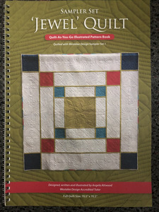 91425: Jewel Quilt Pattern Book by Angela Atwood a Westalee Design Accredited Teacher