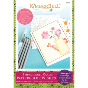 91426: Kimberbell KD565 Embroidered Cards: Watercolor Wishes Embroidery CD Machine Embroidery CD