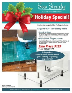 """27551: Sew Steady Ultimate Table Package 18x24""""Large or 24x24""""Big Extension"""