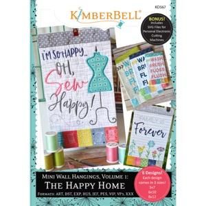 91490: Kimberbell KD567 Mini Wall Hangings, Volume 1: The Happy Home Machine Embroidery CD