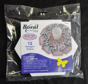 91491: Bosal BOS437-12 In-R-Form Double-Sided Fusible Hexagon Shapes