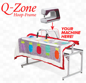 "Q-Zone 102"" Queen Quilting Frame, Adjustable Depth/Height, Quilt Clips, Bungee Clamps, 10' Light Bar, Table Inserts, TrueCut Combo for   Q-Zone 102"" Queen Quilting Frame, Adjustable Depth/Height, Quilt Clips, Bungee Clamps, 10' Light Bar, Table Inserts, TrueCut Combo for Home Machines, Q-Zone 102"" Queen Quilting Frame, Adjustable Depth/Height, Quilt Clips, Bungee Clamps,"