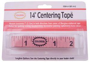 "77446: Colonial Needle CBT-14-2 Longarm Centering Tape Measure 14"""