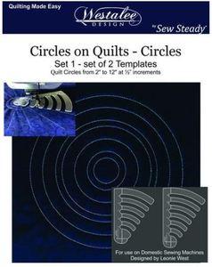 "91647: Westalee WT-COQ-SET1: 2"" - 12"" Circles on Quilts 2 Piece Templates Set"