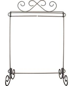 91666: Ackfeld 87742 Scroll Single Wire Display Stand Charcoal