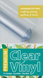 65538: C&T CT20301 Premium Clear Vinyl Roll 16 Inch x 1.5 Yards, 12 Gauge