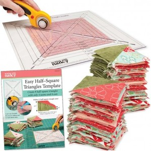 91759: Sewing with Nancy SWNEHTT Easy Half-Square Triangles Template