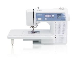 Brother XR9550PRW, 110 Stitch Computer Sewing Machine, Brother XR9550PRW, Project Runway, Computer Sewing Machine, SB1000, 110 Stitch, 8BH's, Font, Ext Table, Threader, Start/Stop, Needle Up/Down, Speed Limit