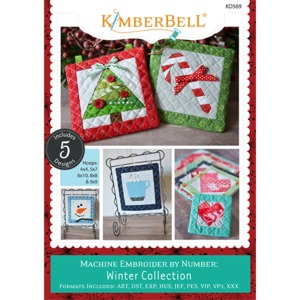 91821: Kimberbell KD569 Machine Embroider by Number: Winter Collection Machine Embroidery CD