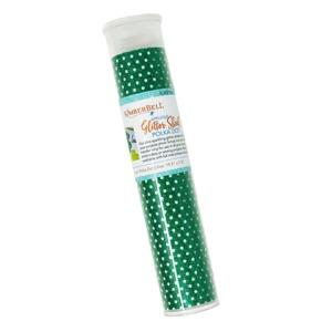 91823: Kimberbell KDKB152 Applique Glitter Sheet: Green Polka Dot HTV Vinyl 19.5x7.5in