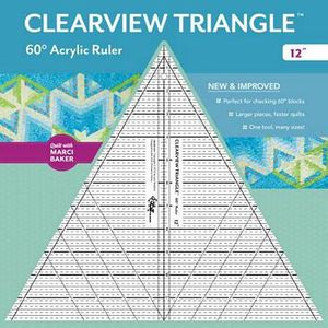 Clearview Triangle CT20330 12in 60 Degree Ruler