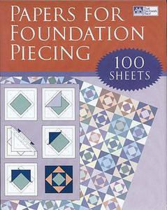 Martingale 8759, Papers For Foundation Piecing, 100 Sheets