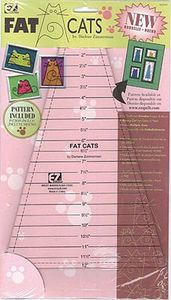 Wrights 7249A, Fat Cats Acrylic Quilting Template by Darlene Zimmerman