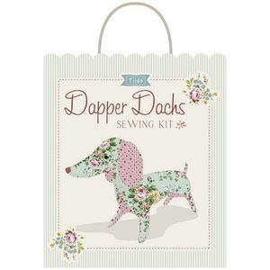 Tilda Fabrics TIL500014, Apple Butter Sewing Kit Toy Dapper Dachshund