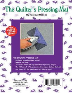 """Not 67, Quilters' 1/2"""" Thick Wool Ironing Pressing Mat Pad 14 x 14In"""