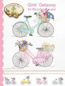 Crabapple Hill Studios CAH2556 Girls' Getaway No.4 Bicycles & Lace