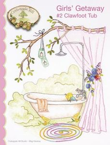 Crabapple Hill Studios CAH2554 Girls' Getaway Clawfoot Tub No. 2