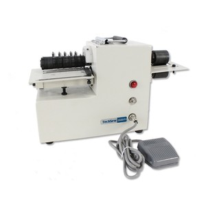 """Techsew 2020P, Leather Strap Cutting Machine, Bench Top Portable Handle, Foot Pedal, Cuts 1/4"""" to 4"""" Belts, Vinyl, Rubber, Cardboard, Etc. Strips, 65Lb"""