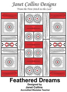 Westalee Feathered Dreams Book  by Janet Collins, Designed using the Westalee Design Feathered Leaf Templates