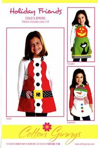 Cotton Ginnys CGFH164 Holiday Friends Child Aprons