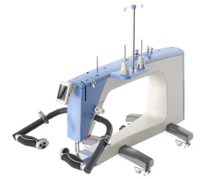 "92632: Grace Qnique Q19"" Longarm Quilting Machine, V Track Wheels, Stitch Regulation"
