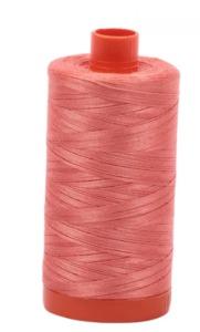 Aurifil Cotton 6729 50wt 1422 yds Tangerine Dream