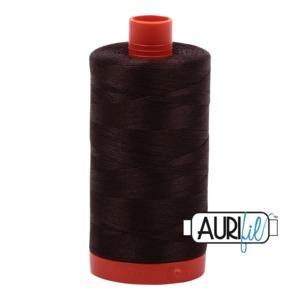 Aurifil Cotton MK50SC6-5024 50wt 1422 yds Dk Brown
