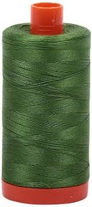Aurifil Cotton 5018 50wt 1422 yds Grass Green