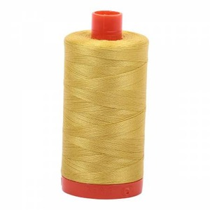 Aurifil Cotton 5015 50wt 1422 yds Gold Yellow