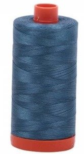 Aurifil Cotton 4644 50wt 1422 yds Smoke Blue