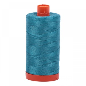 Aurifil Cotton 4182 50wt 1422 yds Med Turquoise