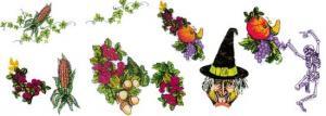Balboa Threadworks 74R Halloween / Thanksgiving 3 5x7 Embroidery Disks