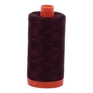 Aurifil Cotton 2465 50wt 1422 yds Very Dark Brown