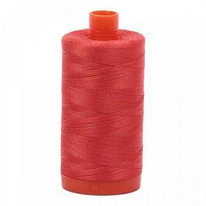 Aurifil Cotton 2277 50wt 1422 yds Lt Red Orange