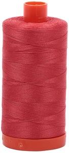 Aurifil Cotton 2255 50wt 1422 yds Dk Red Orange