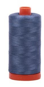 Aurifil Cotton 1248 50wt 1422 yds Grey Blue