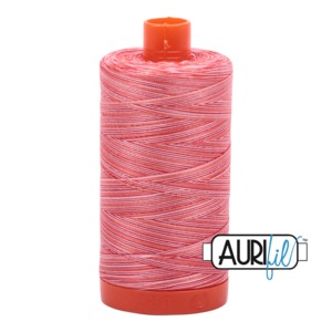 Aurifil Cotton 4668 50wt 1422 yds Var Spotted Pinks