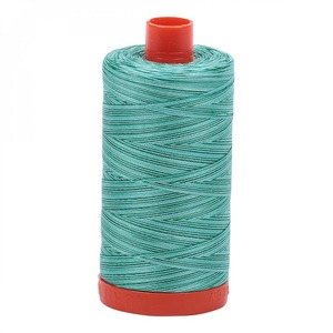Aurifil Cotton 4662 50wt 1422 yds Variegated Spotted Greens