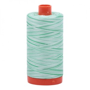 Aurifil Cotton 4661 50wt 1422 yds Variegated Mint Julep