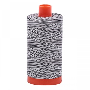 Aurifil Cotton 4652 50wt 1422 yds Variegated Licorice Twist