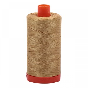 Aurifil Cotton 2920 50wt 1422 yds Lt Brass