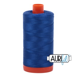 Aurifil Cotton 2735 50wt 1422 yds Med Blue
