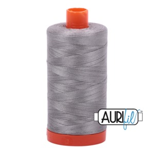 Aurifil Cotton 2620 50wt 1422 yds Stainless Steel