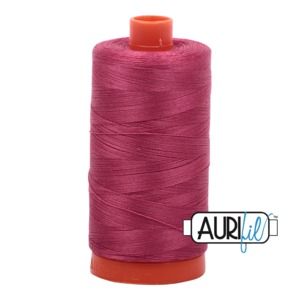 Aurifil Cotton MK50SC6-2455 50wt 1422 yds Med Carmine Red