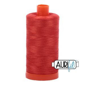 Aurifil Cotton 2245 50wt 1422 yds Red Orange